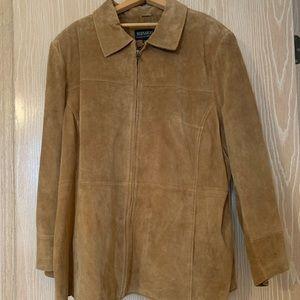 Bernardo washable suede jacket-plus size